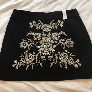 NWT's TopShop Embroidered Mini Skirt
